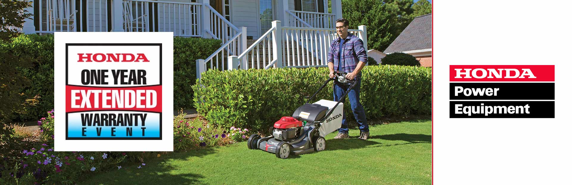 Honda Power Equipment: One Year Extended Warranty on Residential Mowers
