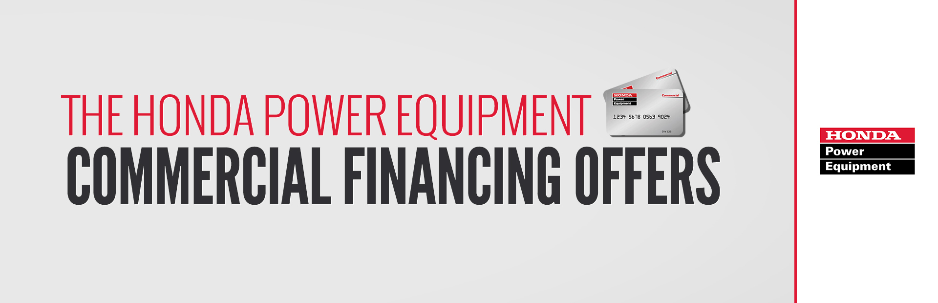 Honda power equipment commercial financing offers west for Honda finance corporation