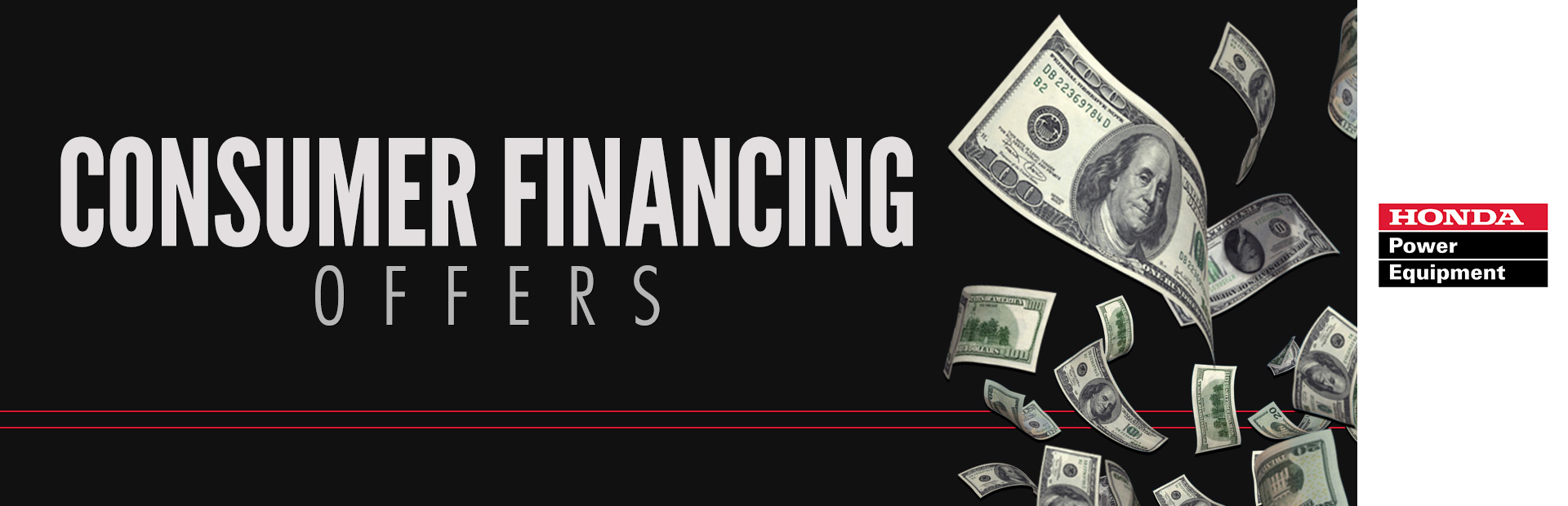 Honda Power Equipment: Consumer Financing Offers
