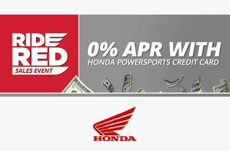 0% APR with Honda Powersports Credit Card