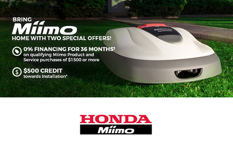 Thompsons Outdoor Power Equipment Current Promotion For Honda Miimo Bring Home With Two Special Offers