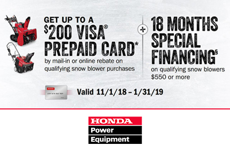 18 Month Financing, Plus up to $200 Visa Prepaid