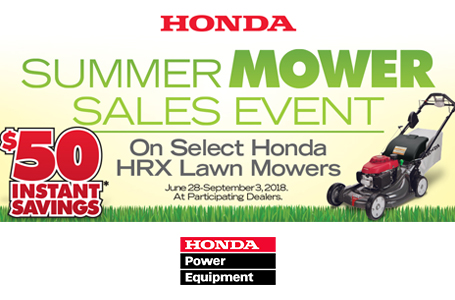 Honda Summer Mower Sales Event