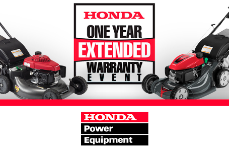 One Year Extended Warranty on all HRR, HRX, & HRS