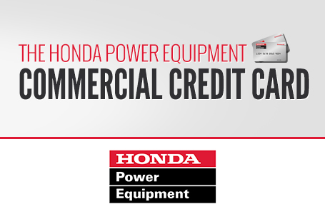 The Honda Power Equipment Commercial Credit Card