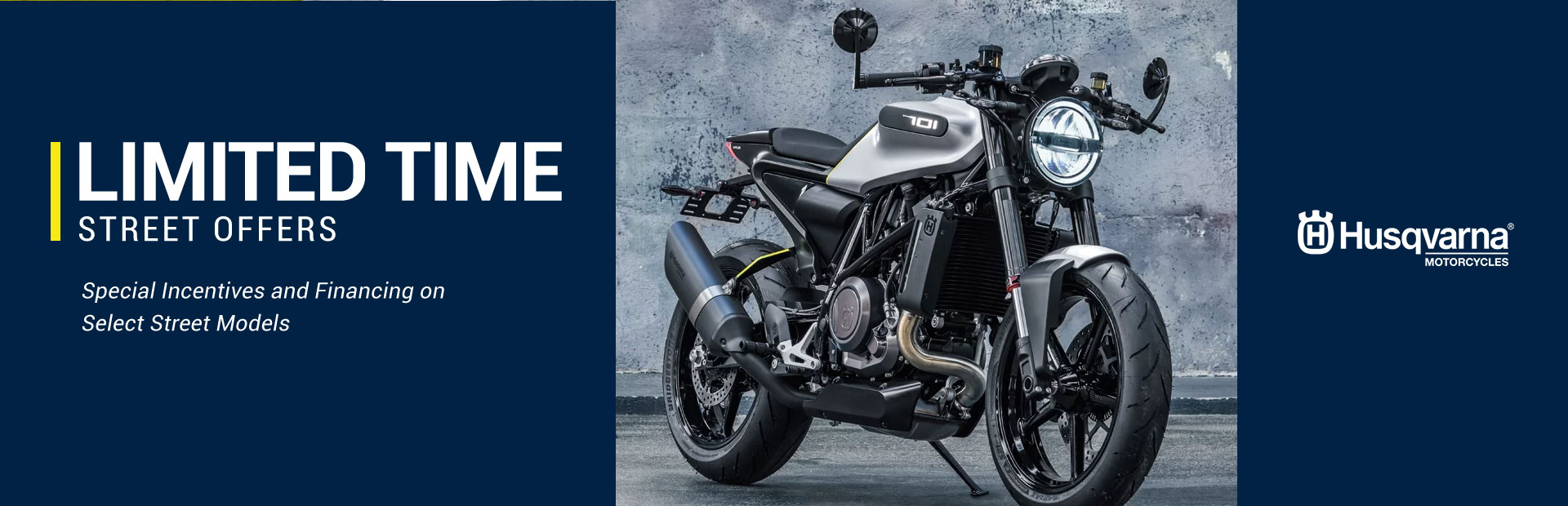 Husqvarna Motorcycles: Limited Time Street Offers