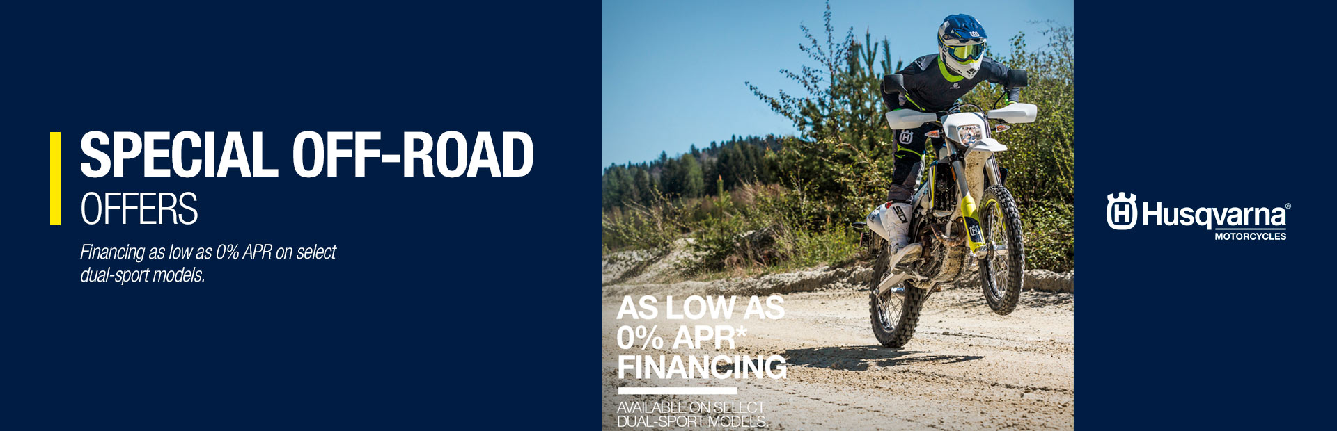 Husqvarna Motorcycles: SPECIAL OFF-ROAD OFFERS