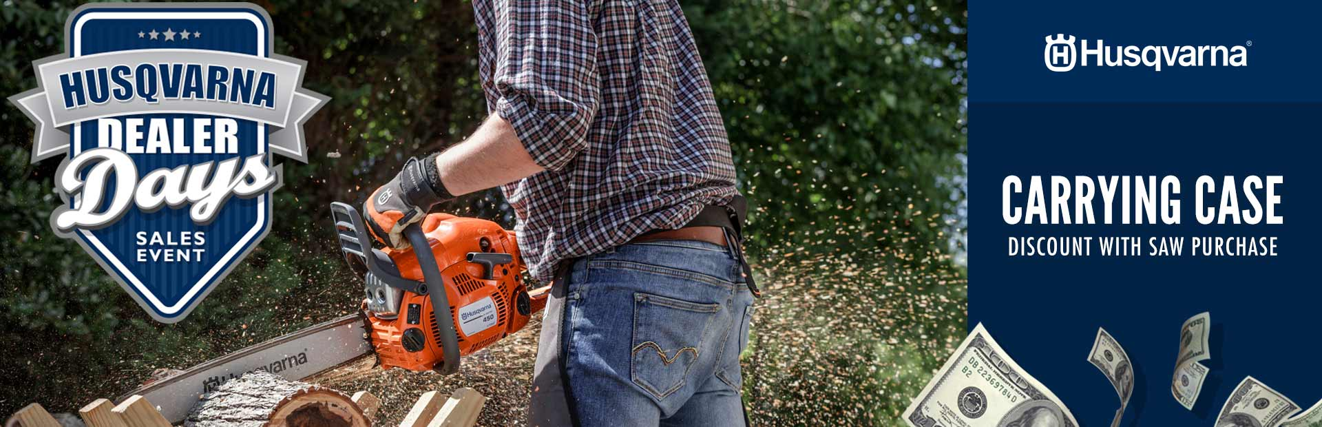 Husqvarna: Carrying Case Discount With Saw Purchase