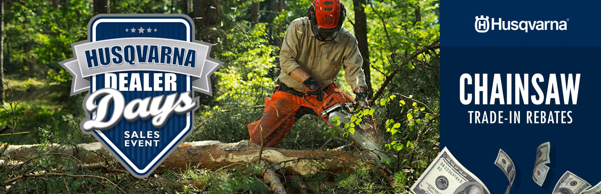 Husqvarna: Chainsaw Trade-In Rebates