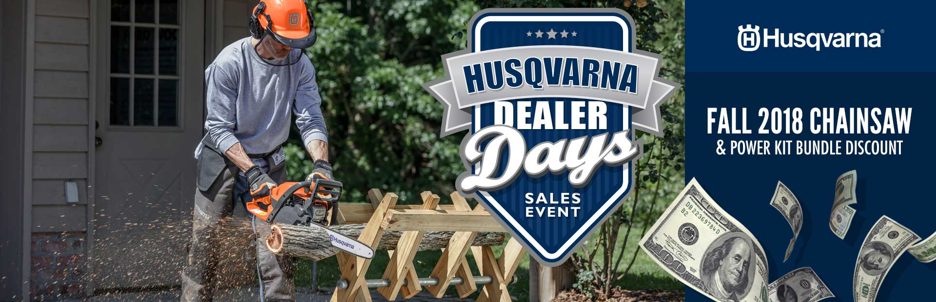 Husqvarna: Fall 2018 Chainsaw and Power Kit Bundle Discount