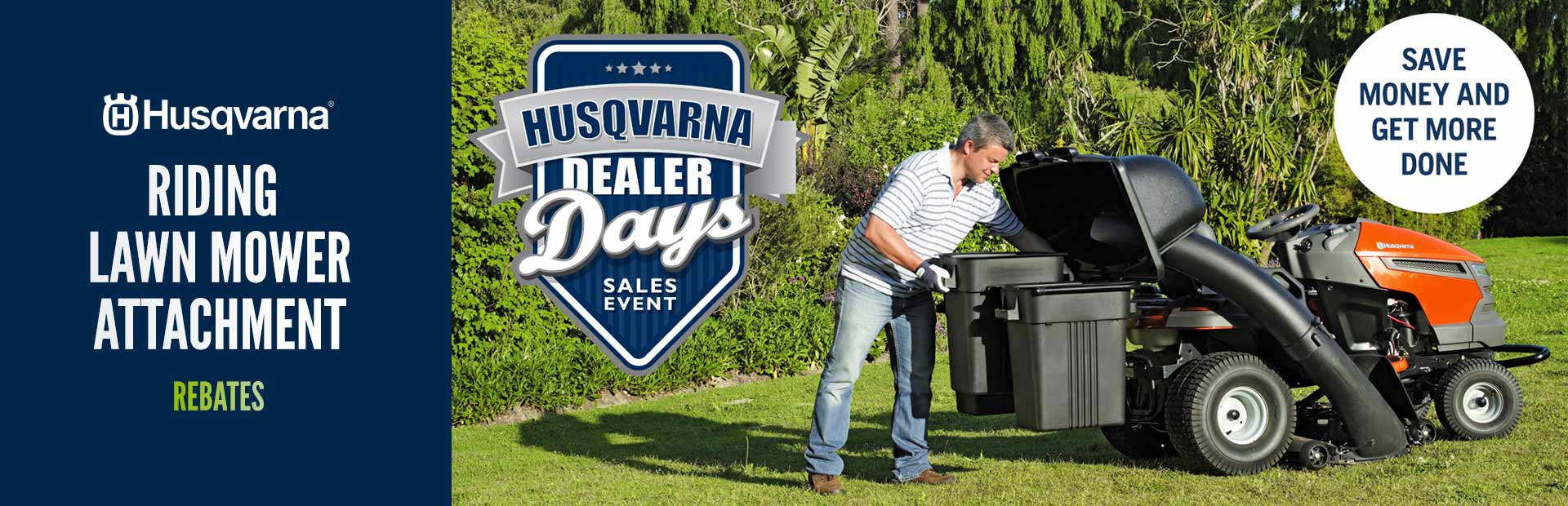 Husqvarna: Riding Lawn Mower Attachment Rebates