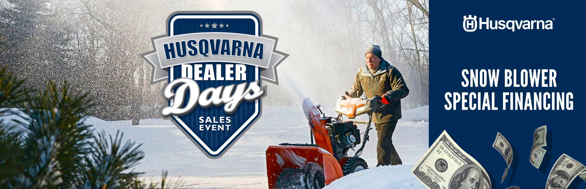 Husqvarna: Snow Blower Special Financing