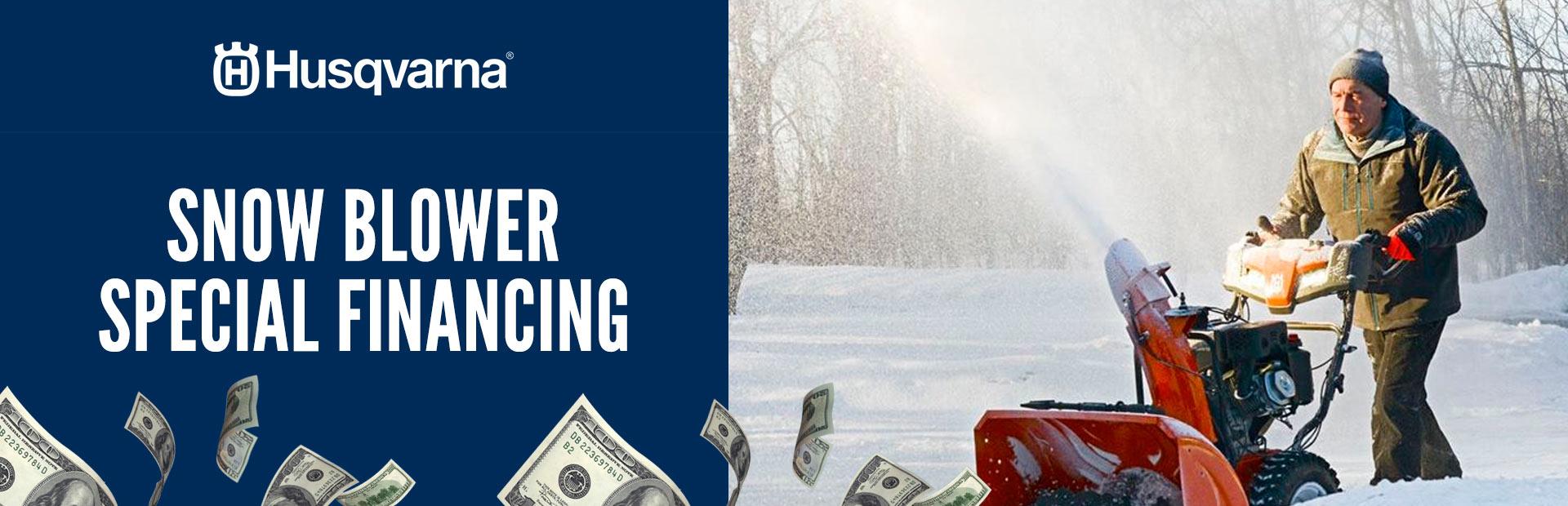 Husqvarna Snow Blower Special Financing Jones Power Sports Ltd