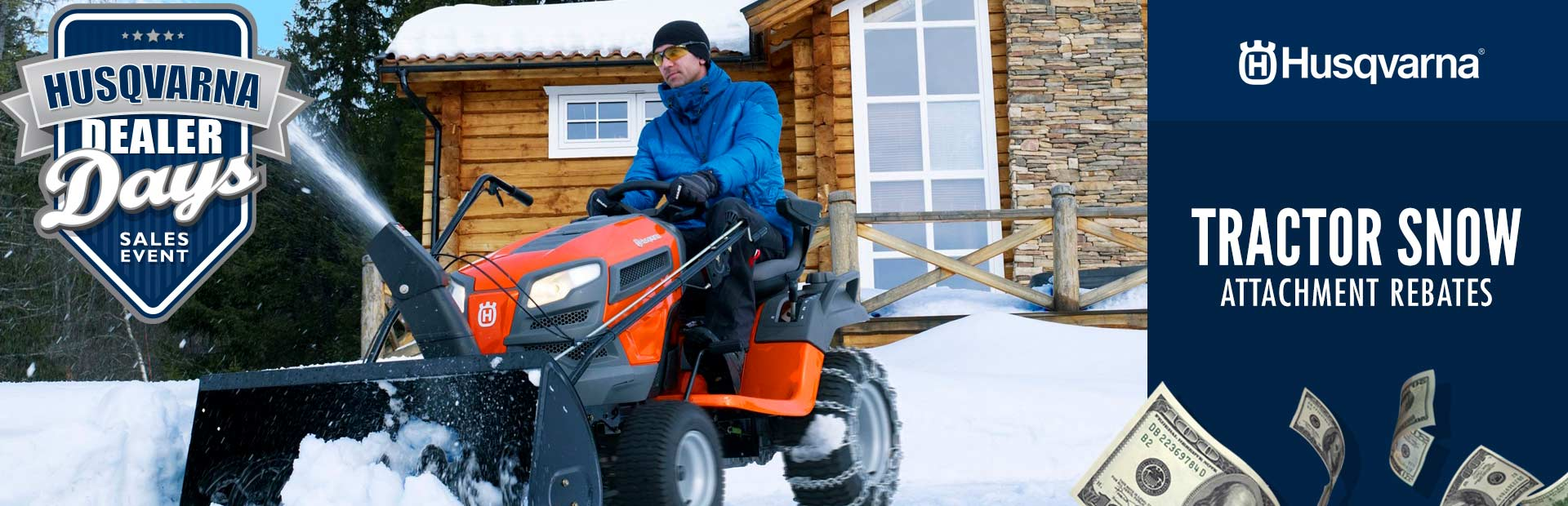 Husqvarna: Tractor Snow Attachment Rebates