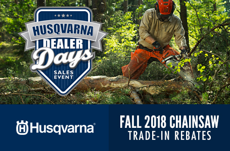 Fall 2018 Chainsaw Trade-In Rebates