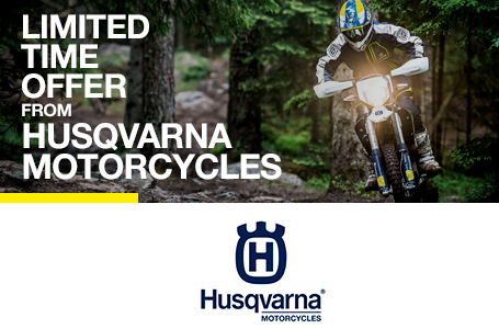 Limited Time Offer from Husqvarna Motorcycles