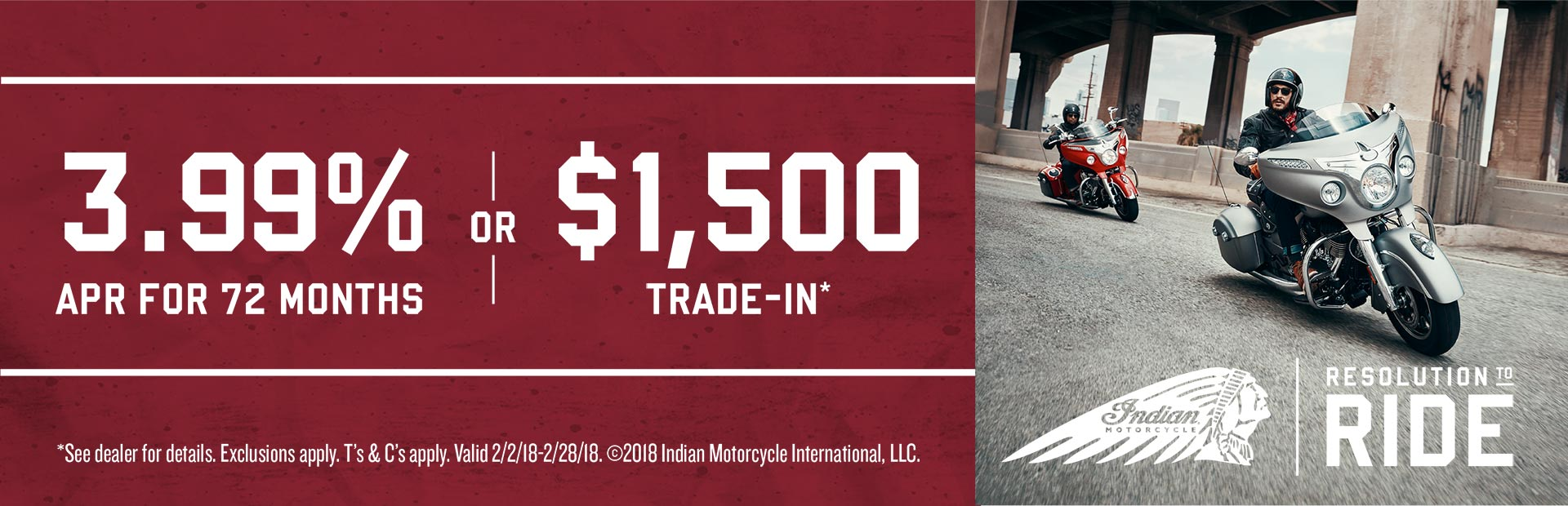 Indian Motorcycle: Thunder Stroke 111 Offers