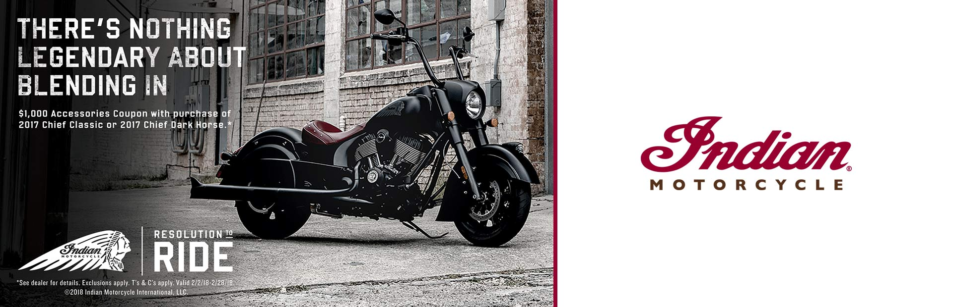 Indian Motorcycle: 2017 Chief Classic & Chief Dark Accessories Coupon