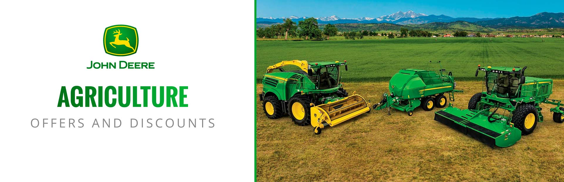 John Deere: Agriculture Offers and Discounts
