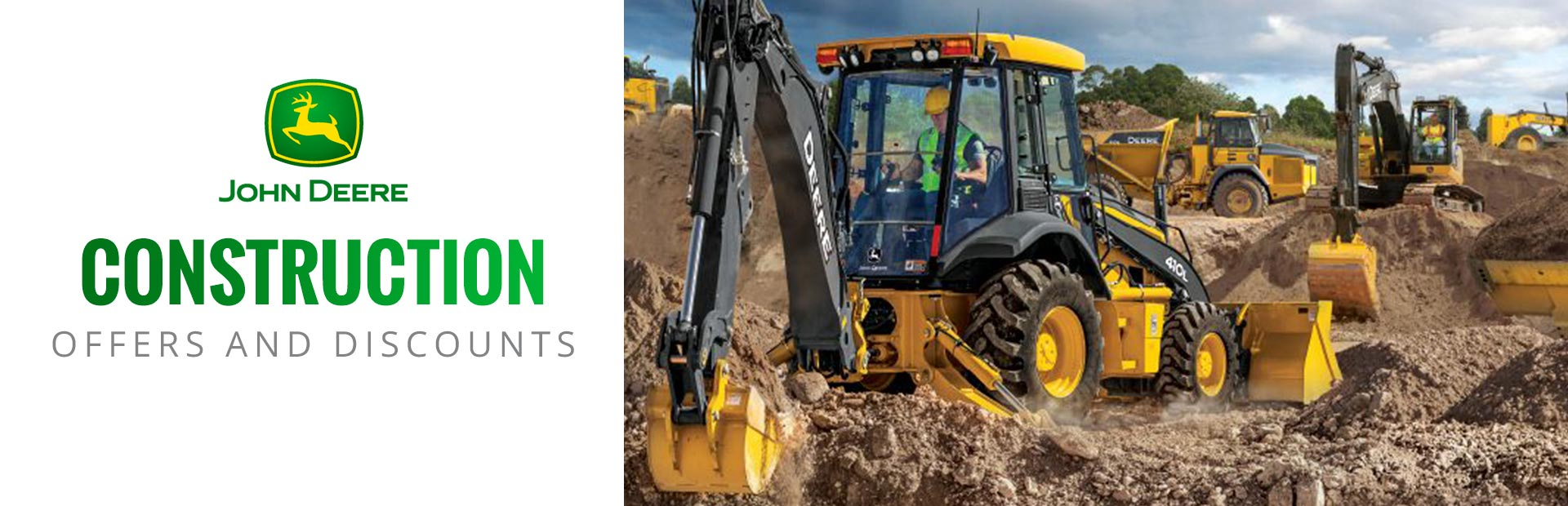 John Deere: Construction Offers and Discounts
