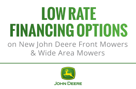 Low Rate Financing Options on Front Mowers & Wide