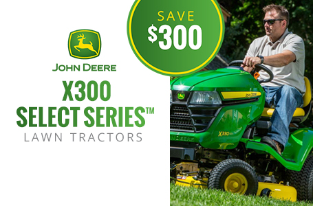 X300 Select Series™ Lawn Tractors - Save $300