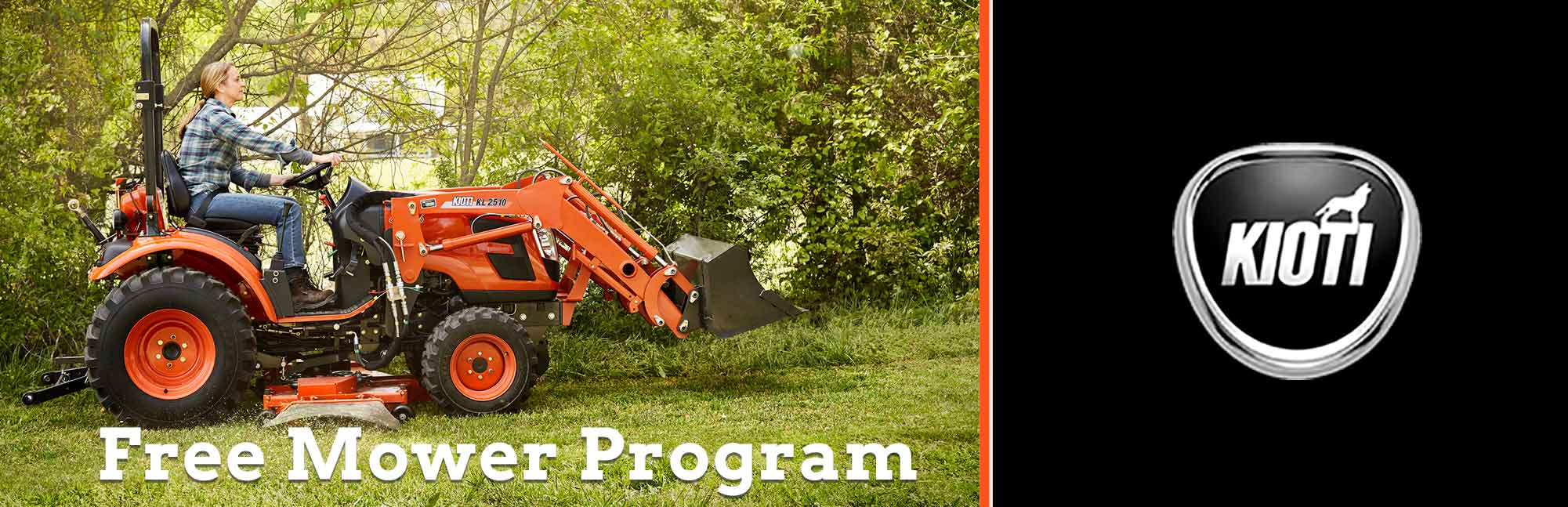 KIOTI: Free Mower Program