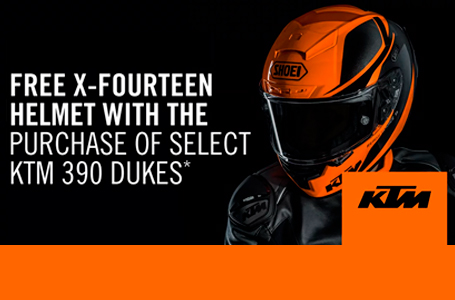 GET A KTM SHOEI X-FOURTEEN HELMET