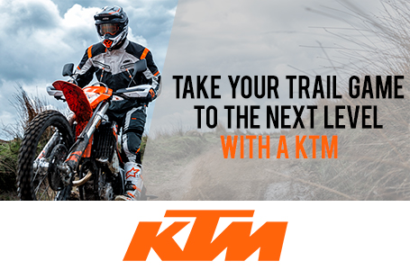 TAKE YOUR TRAIL GAME TO THE NEXT LEVEL WITH A KTM