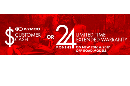 Kymco Customer Cash or Extended Warranty