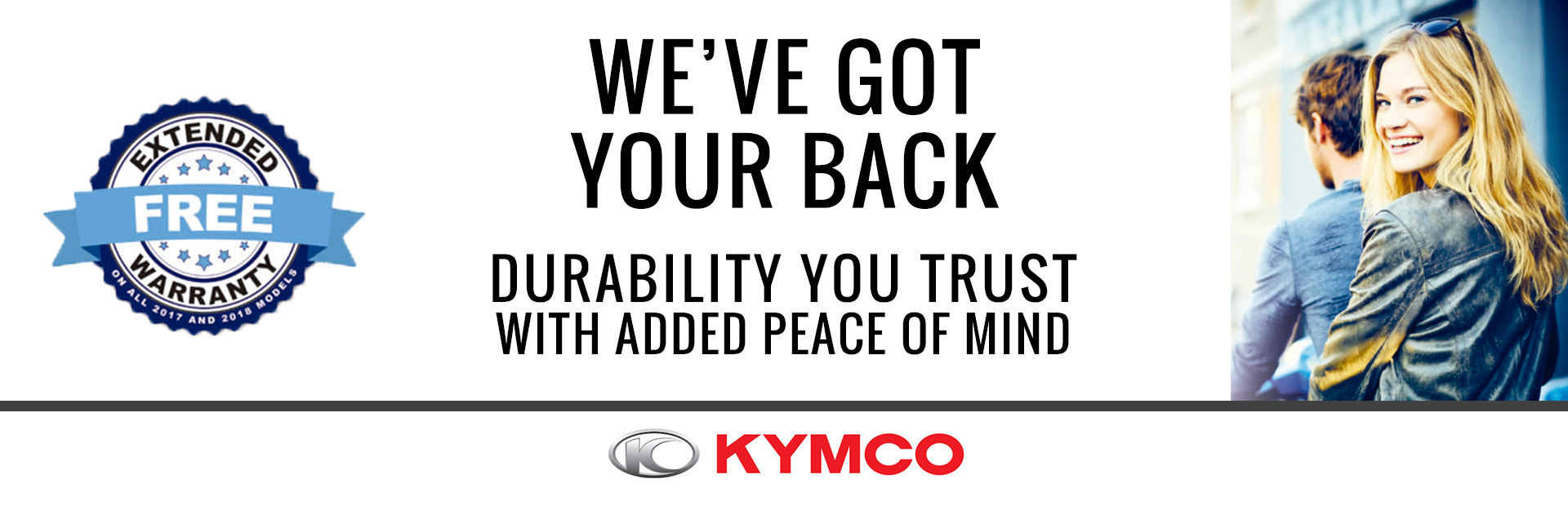 KYMCO: Free Extended Warranty Offer