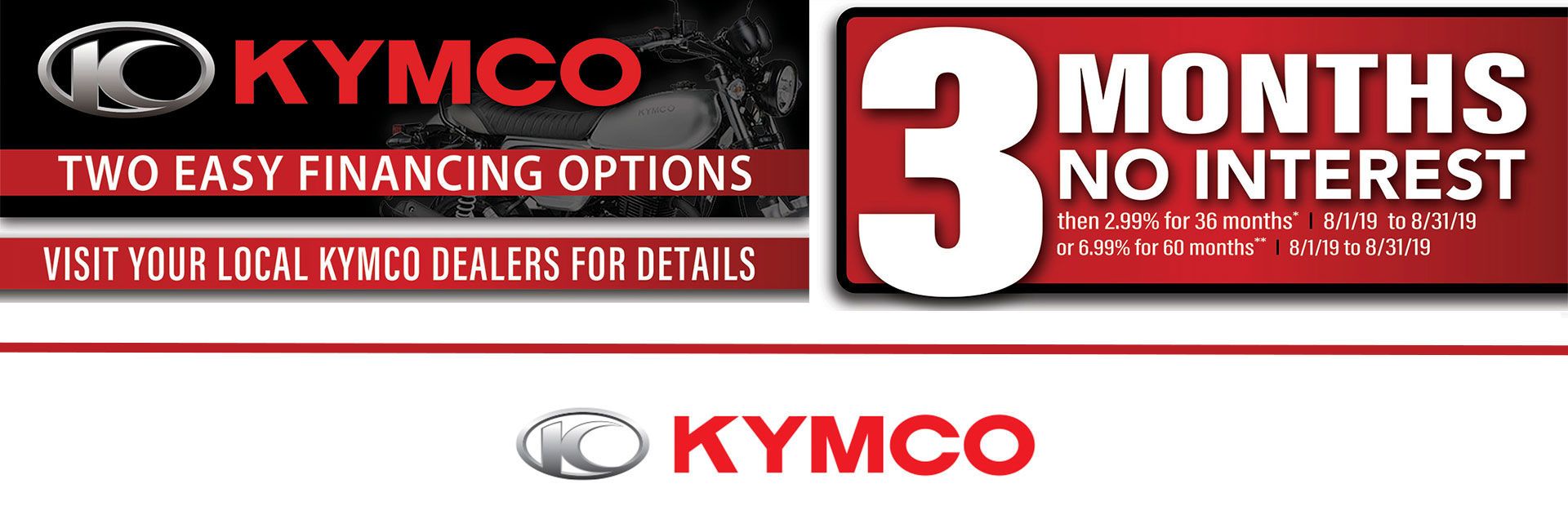 KYMCO: Two Easy Financing Options