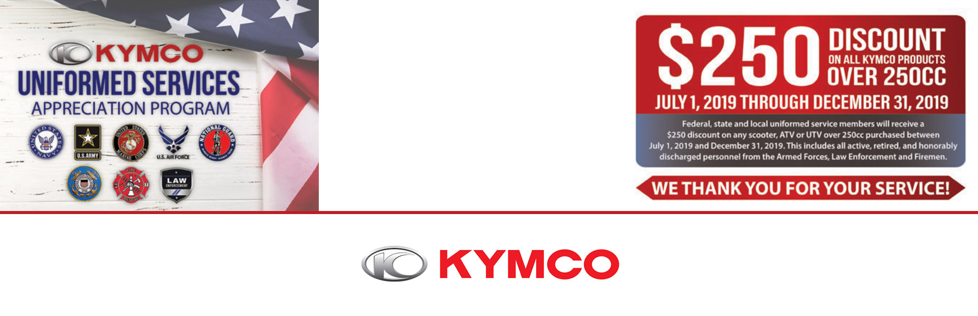 KYMCO: Uniformed Services Appreciation Program