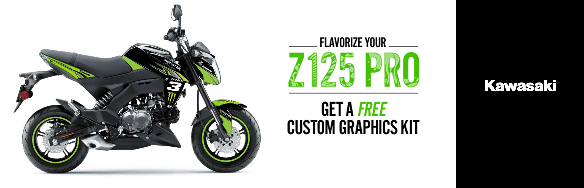 Kawasaki: Flavorize Your Z125 Pro - Free Custom Graphics Kit
