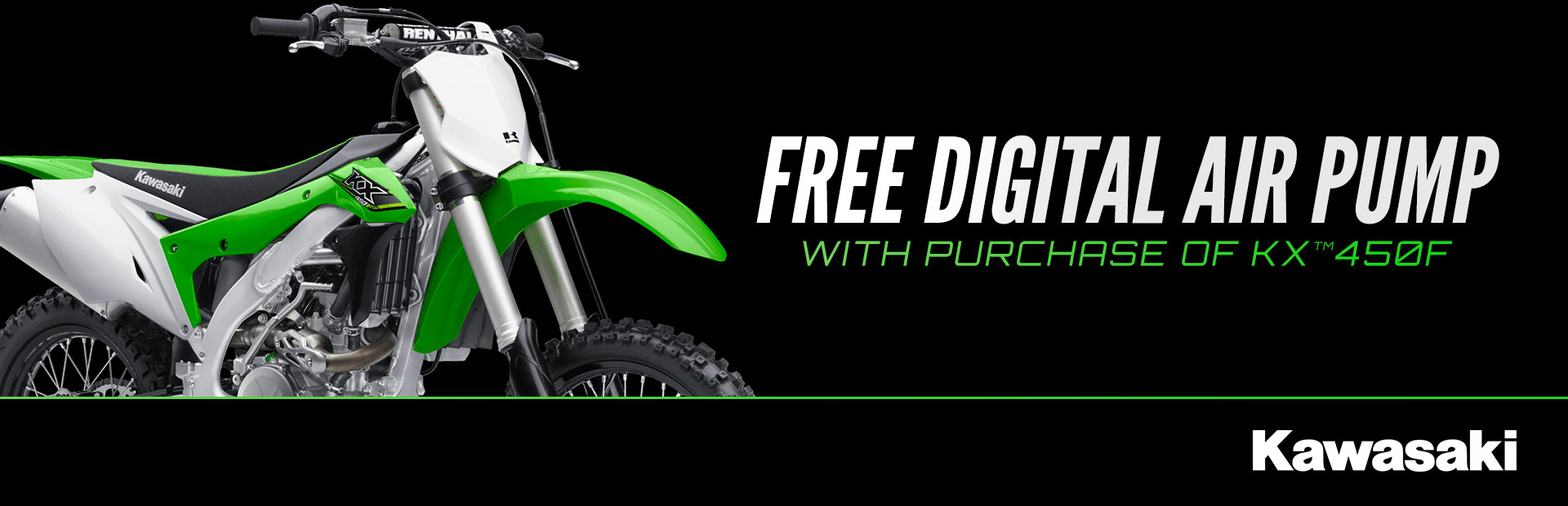 Kawasaki: Free Digital Air Pump with Purchase of KX™450F