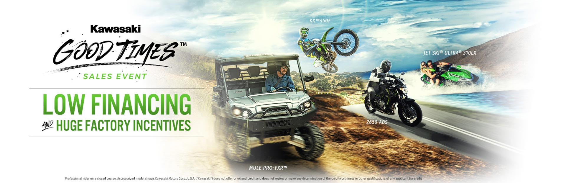 Kawasaki: Good Times™ Sales Event