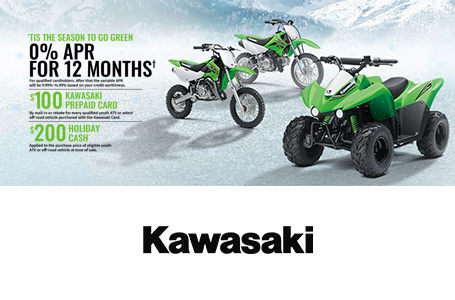 Kawasaki Holiday Savings - Youth ATVs, Off-Road