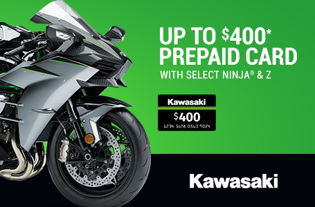 Up to $400* Prepaid Card with Select Ninja® & Z