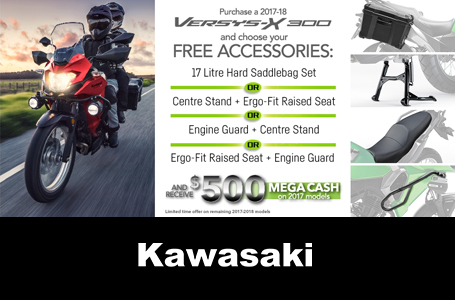 VERSYS-X FREE ACCESSORIES