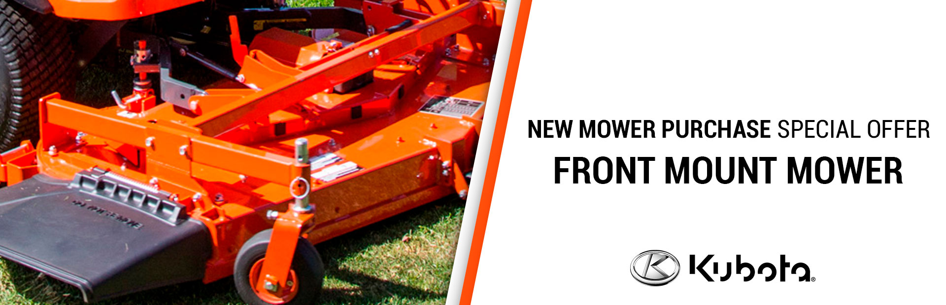 Kubota: NEW MOWER PURCHASE SPECIAL OFFER-FRONT MOUNT MOWER
