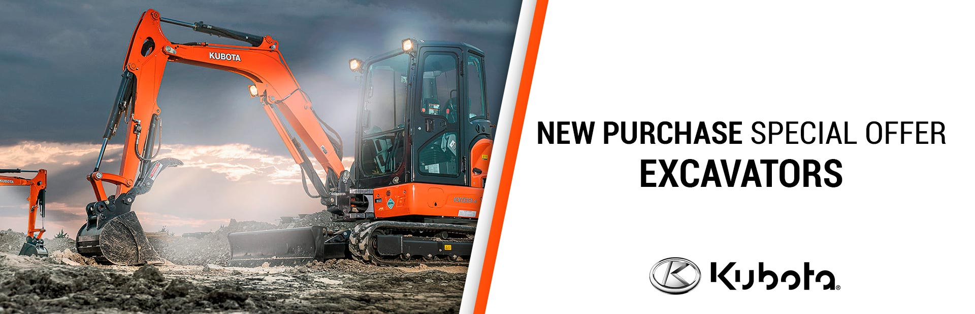 Kubota: New Purchase Special Offers - Excavators