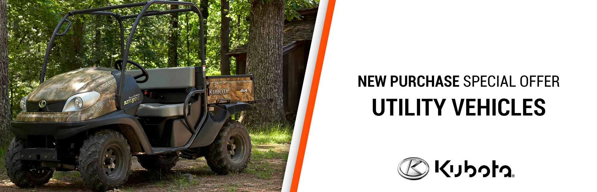 Kubota: New Purchase Special Offers - Utility Vehicles