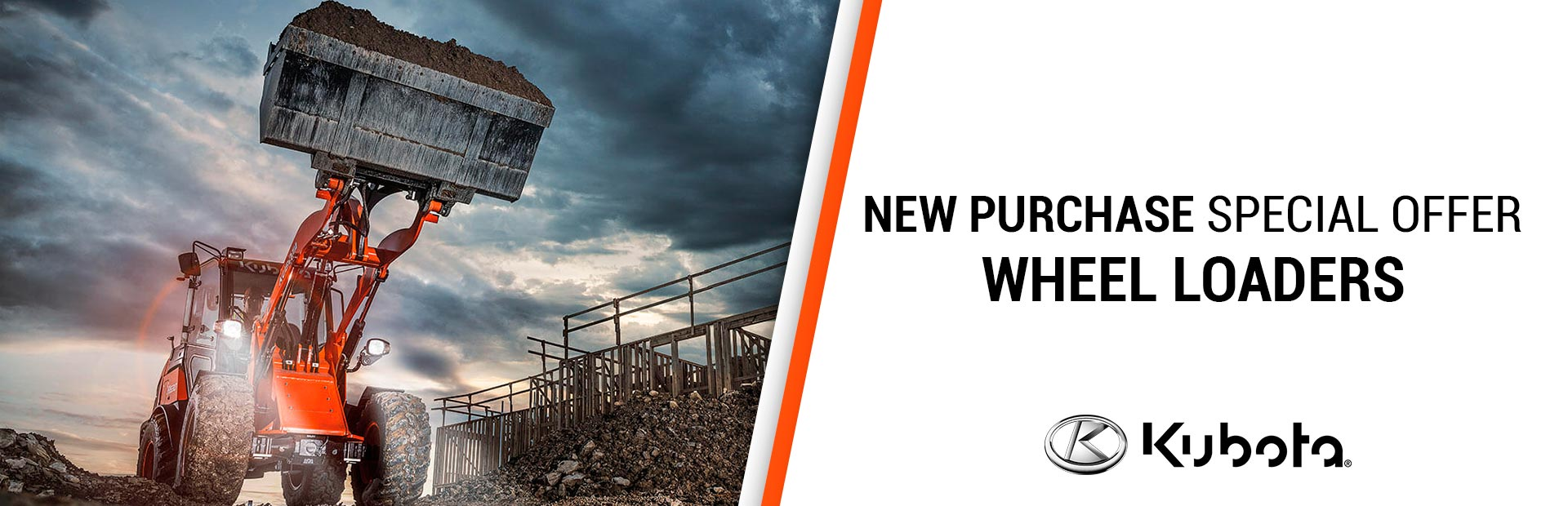Kubota: NEW PURCHASE SPECIAL OFFERS-KUBOTA WHEEL LOADERS