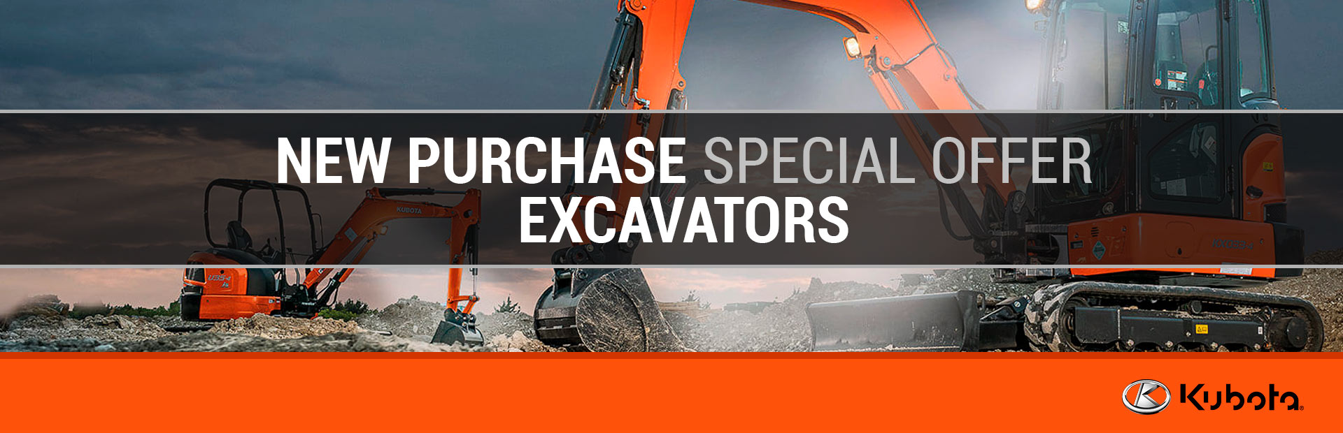 Kubota: New Purchase Special Offer - Kubota Excavators