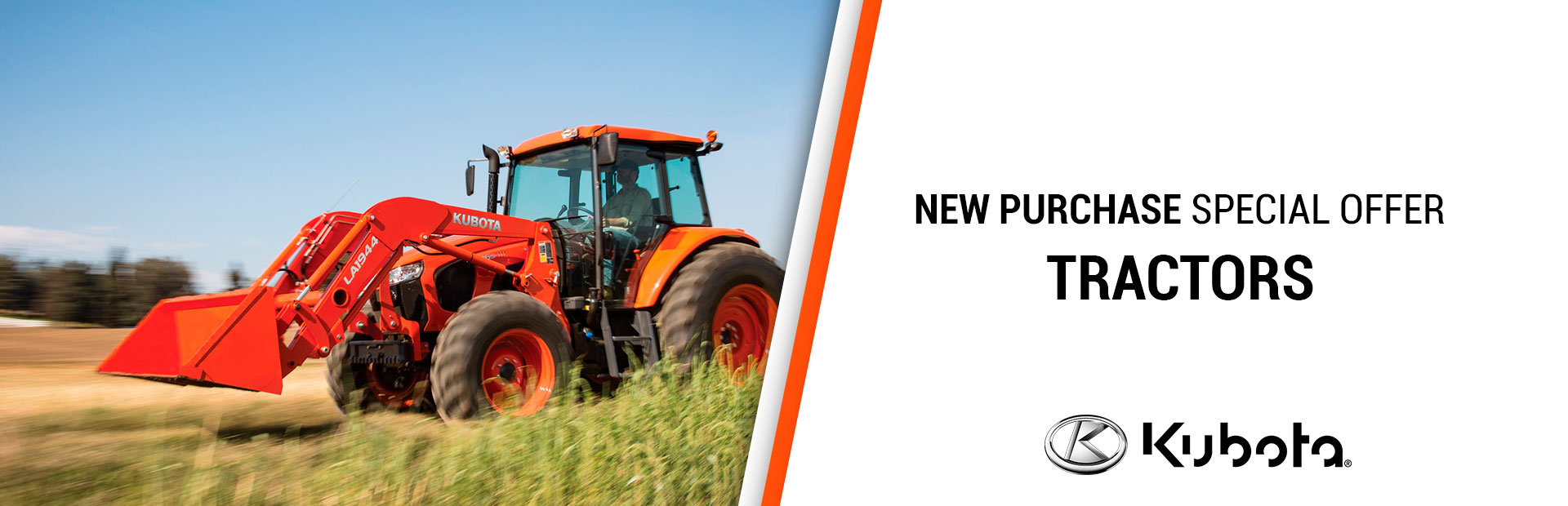 Kubota: New Purchase Special Offers - Tractors