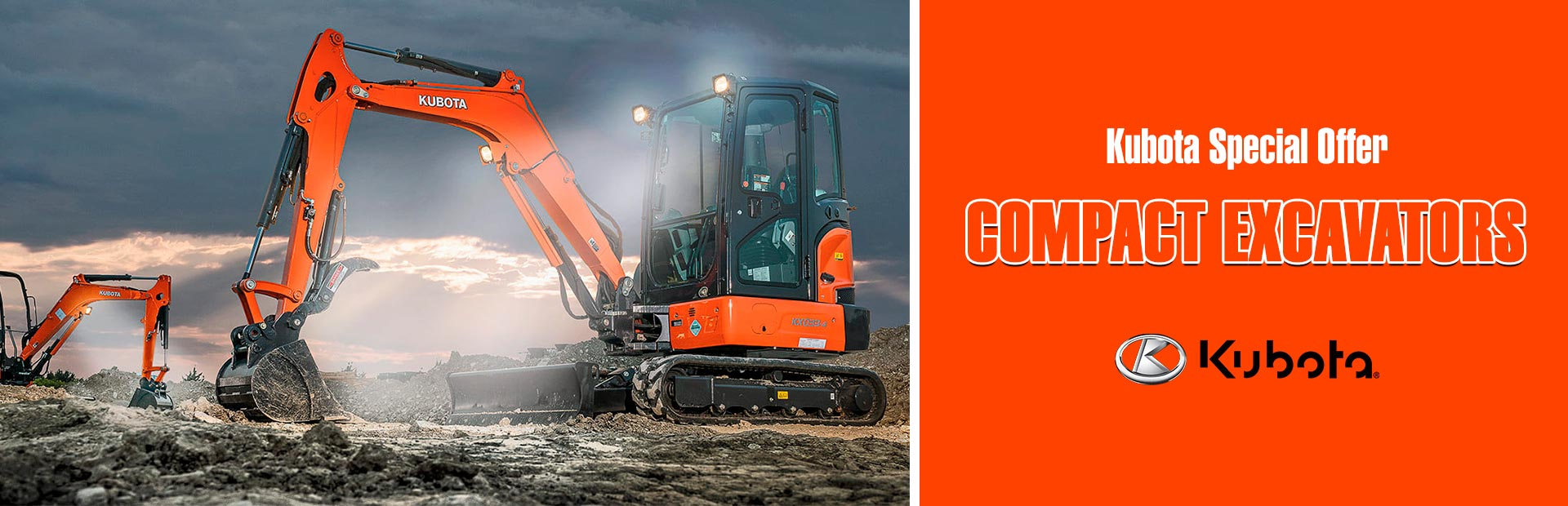 Kubota: Kubota Special Offer - Compact Excavators