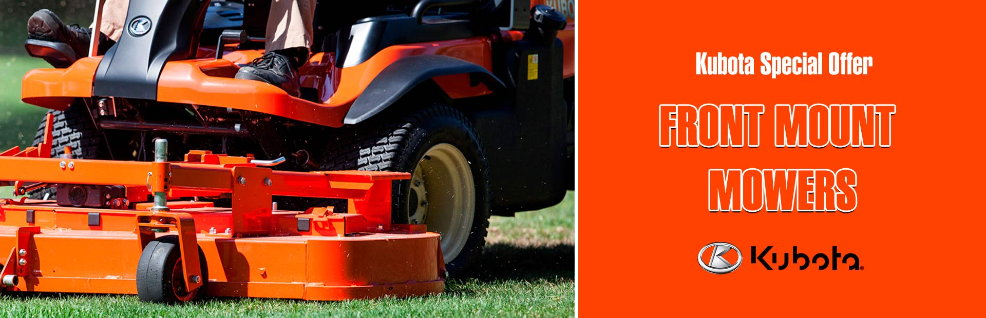 Kubota: Kubota Special Offer - Front Mount Mowers