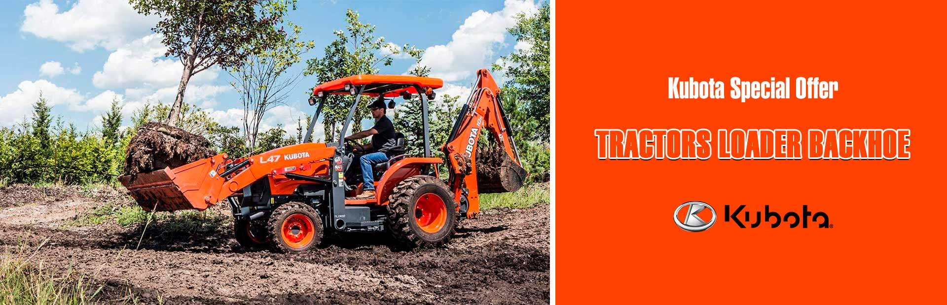 Kubota: Kubota Special Offer - Tractors Loader Backhoe
