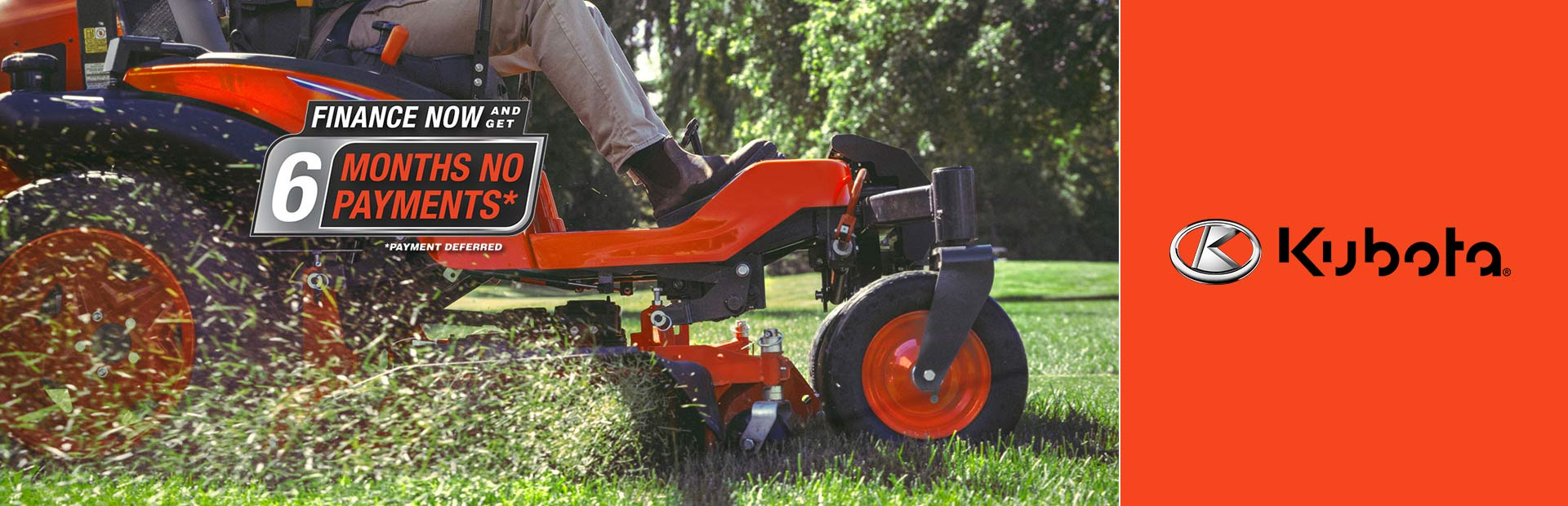 Kubota: Finance Now and Get 6 Months No Payments