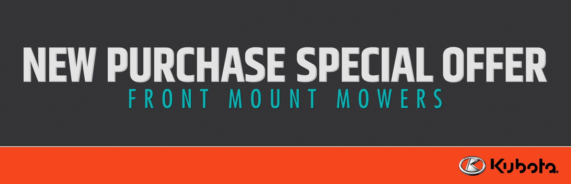 Kubota: New Purchase Special Offer - Front Mount Mowers